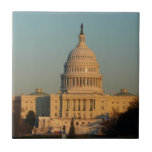 Capitol at Christmas Washington DC Holiday Photo Ceramic Tile