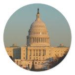 Capitol at Christmas Washington DC Holiday Photo Classic Round Sticker