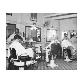 Capitol Barber Shop, 1938 Canvas Print