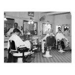 Capitol Barber Shop, 1938 Post Card