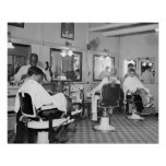 Capitol Barber Shop, 1938 Vintage Photo Poster