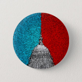 Capitol Building Abstract Pinback Button