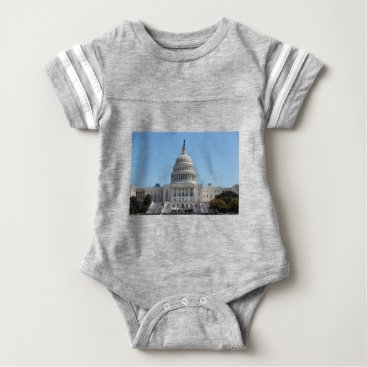 USA Themed Capitol Building Baby Bodysuit
