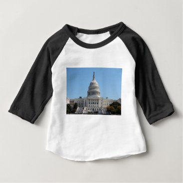 USA Themed Capitol Building Baby T-Shirt