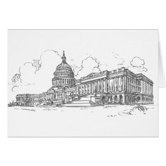 Capitol building greeting card
