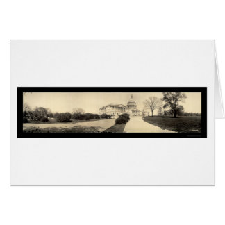 Capitol Building DC Photo 1909 Greeting Card