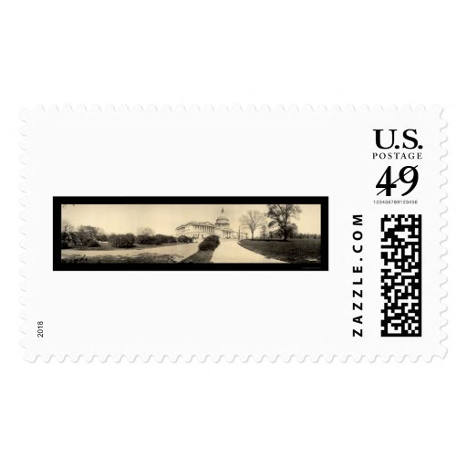 Capitol Building DC Photo 1909 Postage Stamp
