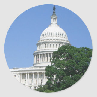 Capitol Building in Washington DC Classic Round Sticker