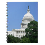 Capitol Building in Washington DC Spiral Notebook