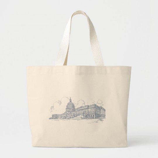 Capitol building large tote bag