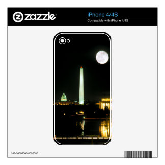 Capitol Building, Lincoln Memorial, Washington Decal For The iPhone 4