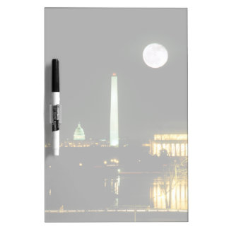 Capitol Building, Lincoln Memorial, Washington Dry Erase Board