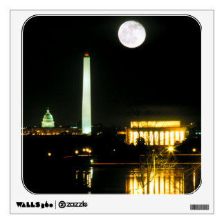 Capitol Building, Lincoln Memorial, Washington Wall Decal