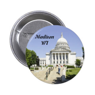 Capitol Building Madison WI Pinback Button