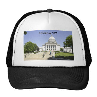 Capitol Building Madison WI Mesh Hat