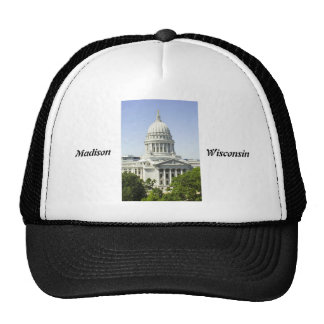 Capitol Building Madison WI Mesh Hats