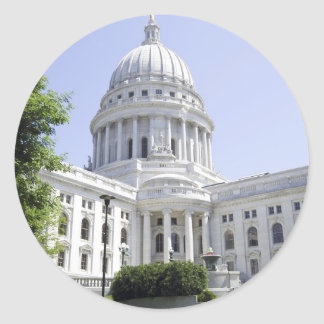 Capitol Building Madison WI Round Sticker