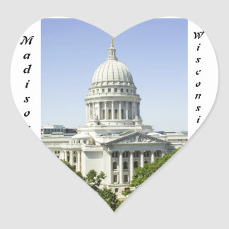 Capitol Building Madison WI Heart Stickers
