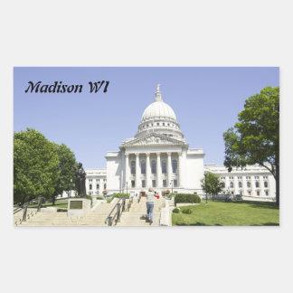 Capitol Building Madison WI Rectangular Sticker