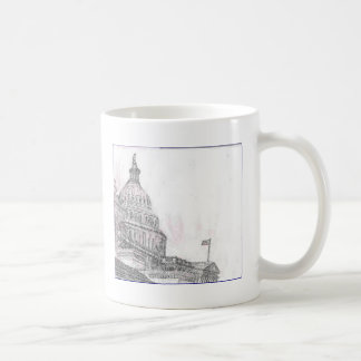 capitol building.PNG Drawing of Capitol Building Coffee Mug