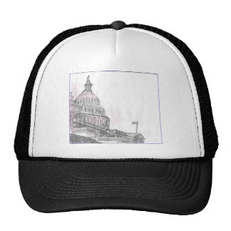 capitol building.PNG Drawing of Capitol Building Trucker Hat