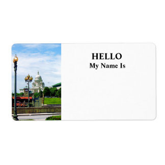 Capitol Building Seen from Waterplace Park Personalized Shipping Label
