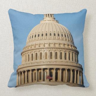 Capitol Building shot at dusk Throw Pillow