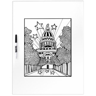 Capitol Building Texas Adult Coloring Dry Erase Board