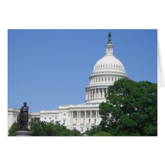 Capitol Building US Government in Washington DC Card