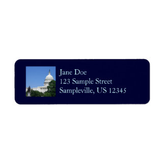 Capitol Building US Government in Washington DC Label