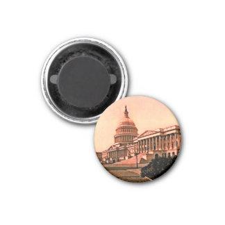 Capitol Building Washington DC Murica America 1900 1 Inch Round Magnet