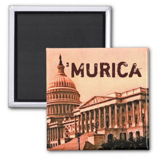 Capitol Building Washington DC Murica America 1900 2 Inch Square Magnet