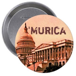 Capitol Building Washington DC Murica America 1900 4 Inch Round Button