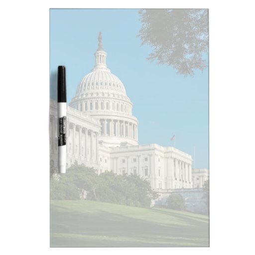 Capitol Building West View Dry-Erase Board