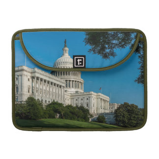 Capitol Building West View Sleeves For MacBook Pro