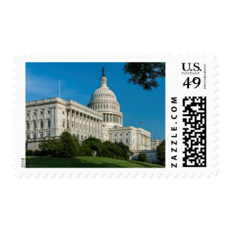 Capitol Building West View Postage Stamp