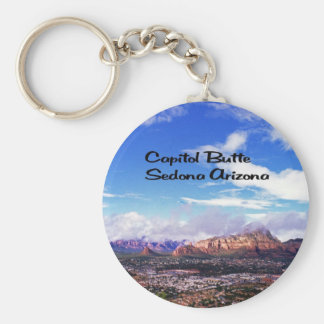 Capitol Butte, Thunder Mountain Basic Round Button Keychain