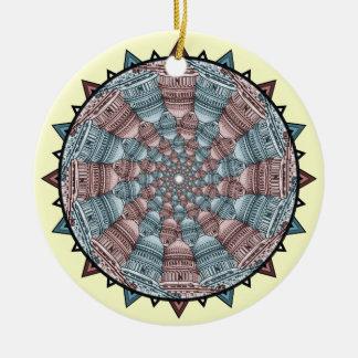 Capitol Collage Ceramic Ornament