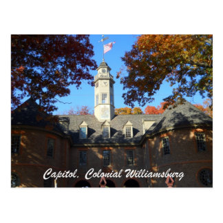 Capitol, Colonial Williamsburg Postcard