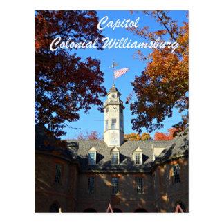 Capitol, Colonial Williamsburg Postcard