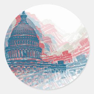 Capitol Crisis Classic Round Sticker