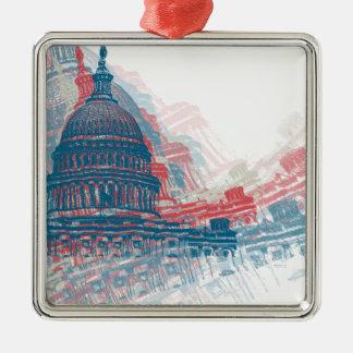 Capitol Crisis Metal Ornament