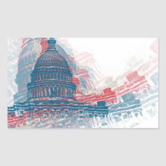 Capitol Crisis Rectangular Sticker