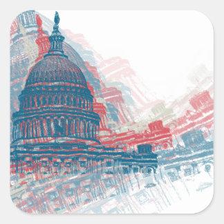 Capitol Crisis Square Sticker