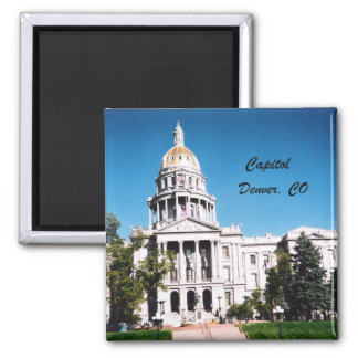 Capitol, Denver, CO 2 Inch Square Magnet