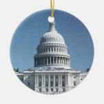 Capitol Dome Crop from jpg Double-Sided Ceramic Round Christmas Ornament