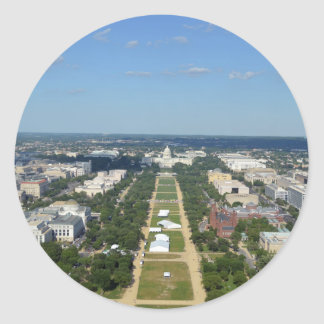 Capitol from top of Washington Monument.jpg Classic Round Sticker