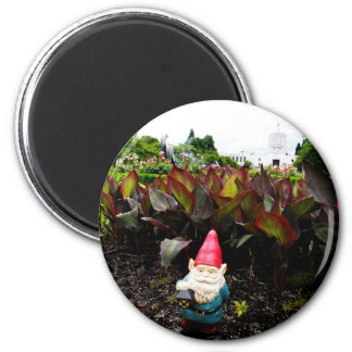 Capitol Garden Gnome 2 Inch Round Magnet