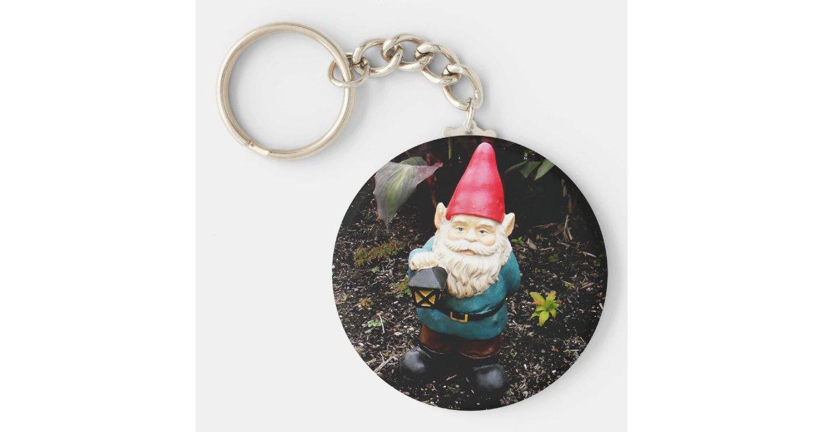 Capitol Garden Gnome Keychain Zazzle