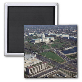 Capitol Hill Aerial Photograph 2 Inch Square Magnet